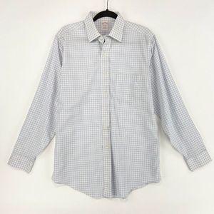 Brooks Brothers 15.5 34 Dress Shirt Blue Plaid